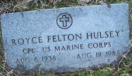 HULSEY (VETERAN), ROYCE FELTON - White County, Arkansas | ROYCE FELTON HULSEY (VETERAN) - Arkansas Gravestone Photos