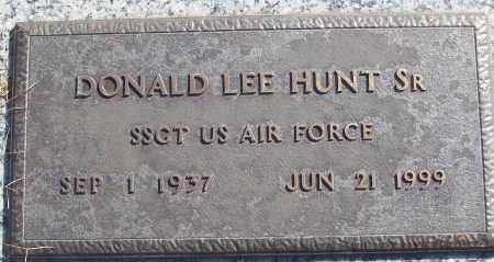 HUNT, SR (VETERAN), DONALD LEE - White County, Arkansas | DONALD LEE HUNT, SR (VETERAN) - Arkansas Gravestone Photos