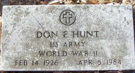 HUNT (VETERAN WWII), DON E - White County, Arkansas | DON E HUNT (VETERAN WWII) - Arkansas Gravestone Photos
