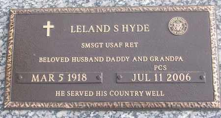 HYDE (VETERAN), LELAND S - White County, Arkansas | LELAND S HYDE (VETERAN) - Arkansas Gravestone Photos