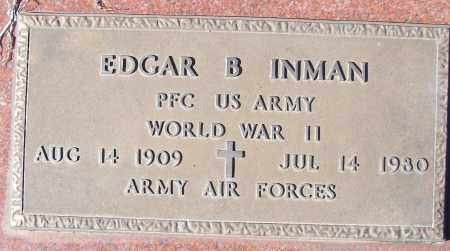 INMAN (VETERAN WWII), EDGAR B - White County, Arkansas | EDGAR B INMAN (VETERAN WWII) - Arkansas Gravestone Photos