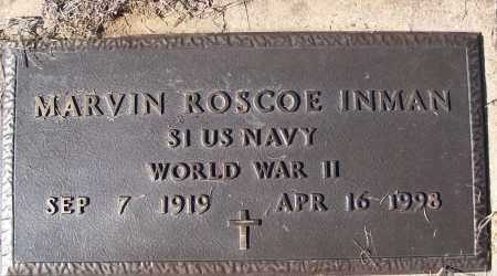 INMAN (VETERAN WWII), MARVIN ROSCOE ) - White County, Arkansas | MARVIN ROSCOE ) INMAN (VETERAN WWII) - Arkansas Gravestone Photos