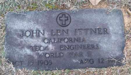 ITTNER (VETERAN WWII), JOHN LEN - White County, Arkansas | JOHN LEN ITTNER (VETERAN WWII) - Arkansas Gravestone Photos