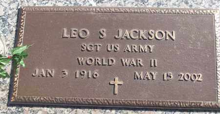 JACKSON (VETERAN WWII), LEO S - White County, Arkansas | LEO S JACKSON (VETERAN WWII) - Arkansas Gravestone Photos