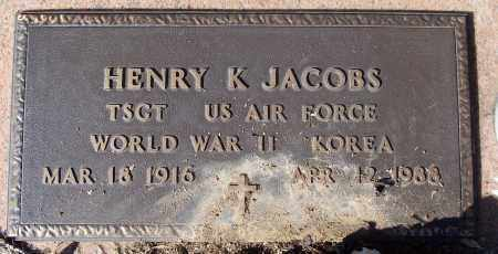 JACOBS (VETERAN 2 WARS), HENRY J - White County, Arkansas | HENRY J JACOBS (VETERAN 2 WARS) - Arkansas Gravestone Photos