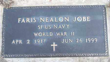 JOBE (VETERAN WWII), FARIS NEALON - White County, Arkansas | FARIS NEALON JOBE (VETERAN WWII) - Arkansas Gravestone Photos