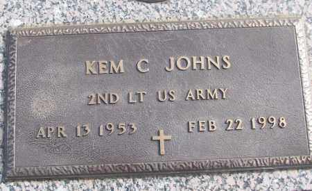 JOHNS (VETERAN), KEM C - White County, Arkansas | KEM C JOHNS (VETERAN) - Arkansas Gravestone Photos