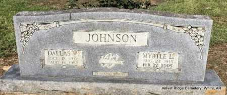 LESTER JOHNSON, MYRTLE LEVICIE - White County, Arkansas | MYRTLE LEVICIE LESTER JOHNSON - Arkansas Gravestone Photos