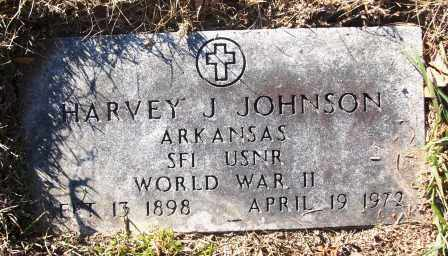 JOHNSON (VETERAN WWII), HARVEY J - White County, Arkansas | HARVEY J JOHNSON (VETERAN WWII) - Arkansas Gravestone Photos