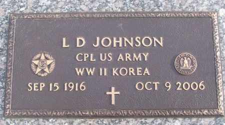 JOHNSON (VETERAN 2 WARS), L D - White County, Arkansas | L D JOHNSON (VETERAN 2 WARS) - Arkansas Gravestone Photos