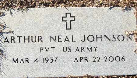 JOHNSON (VETERAN), ARTHUR NEAL - White County, Arkansas | ARTHUR NEAL JOHNSON (VETERAN) - Arkansas Gravestone Photos