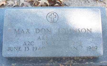 JOHNSON (VETERAN), MAX DON - White County, Arkansas | MAX DON JOHNSON (VETERAN) - Arkansas Gravestone Photos