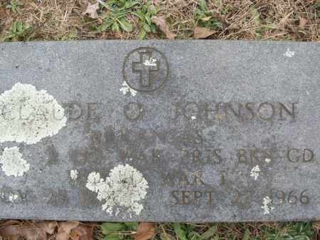 JOHNSON (VETERAN WWI), CLAUDE O - White County, Arkansas | CLAUDE O JOHNSON (VETERAN WWI) - Arkansas Gravestone Photos