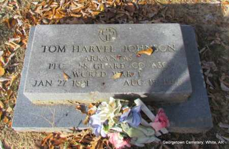 JOHNSON (VETERAN WWI), TOM HARVEL - White County, Arkansas | TOM HARVEL JOHNSON (VETERAN WWI) - Arkansas Gravestone Photos