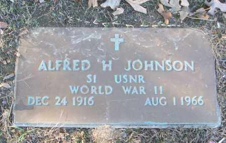 JOHNSON (VETERAN WWII), ALFRED H - White County, Arkansas | ALFRED H JOHNSON (VETERAN WWII) - Arkansas Gravestone Photos