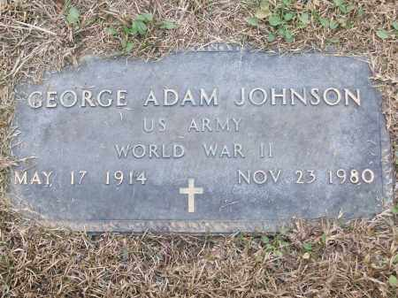 JOHNSON (VETERAN WWII), GEORGE ADAM - White County, Arkansas | GEORGE ADAM JOHNSON (VETERAN WWII) - Arkansas Gravestone Photos