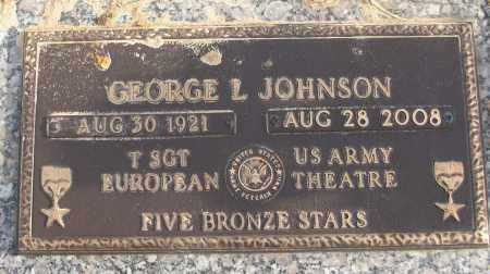 JOHNSON (VETERAN WWII), GEORGE L - White County, Arkansas | GEORGE L JOHNSON (VETERAN WWII) - Arkansas Gravestone Photos