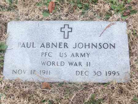 JOHNSON (VETERAN WWII), PAUL ABNER - White County, Arkansas | PAUL ABNER JOHNSON (VETERAN WWII) - Arkansas Gravestone Photos