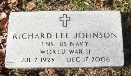 JOHNSON (VETERAN WWII), RICHARD LEE - White County, Arkansas | RICHARD LEE JOHNSON (VETERAN WWII) - Arkansas Gravestone Photos