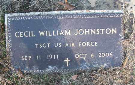 JOHNSTON (VETERAN), CECIL WILLIAM - White County, Arkansas | CECIL WILLIAM JOHNSTON (VETERAN) - Arkansas Gravestone Photos