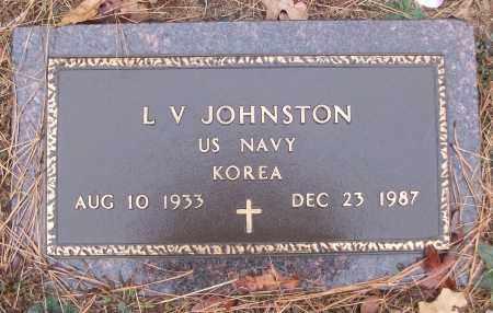 JOHNSTON (VETERAN KOR), L V - White County, Arkansas | L V JOHNSTON (VETERAN KOR) - Arkansas Gravestone Photos