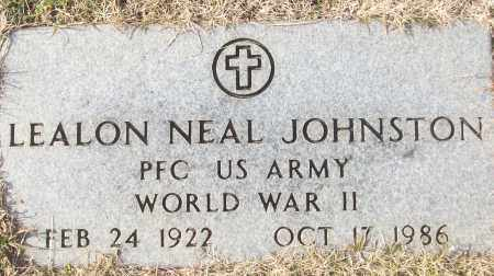 JOHNSTON (VETERAN WWII), LEALON NEAL - White County, Arkansas | LEALON NEAL JOHNSTON (VETERAN WWII) - Arkansas Gravestone Photos