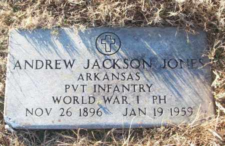 JONES (VETERAN WWI), ANDREW JACKSON - White County, Arkansas | ANDREW JACKSON JONES (VETERAN WWI) - Arkansas Gravestone Photos