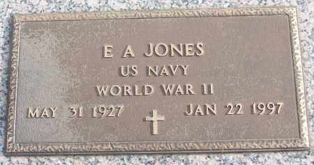 JONES (VETERAN WWII), E A - White County, Arkansas | E A JONES (VETERAN WWII) - Arkansas Gravestone Photos