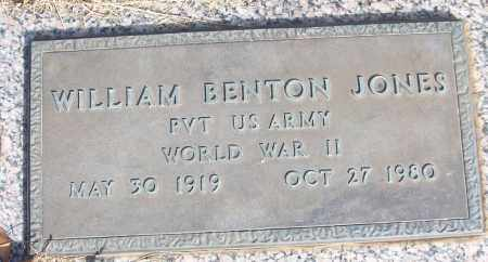 JONES (VETERAN WWII), WILLIAM BENTON - White County, Arkansas | WILLIAM BENTON JONES (VETERAN WWII) - Arkansas Gravestone Photos