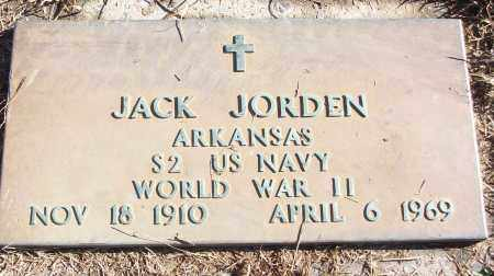 JORDEN (VETERAN WWII), JACK - White County, Arkansas | JACK JORDEN (VETERAN WWII) - Arkansas Gravestone Photos