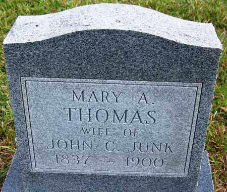 THOMAS JUNK, MARY A - White County, Arkansas | MARY A THOMAS JUNK - Arkansas Gravestone Photos