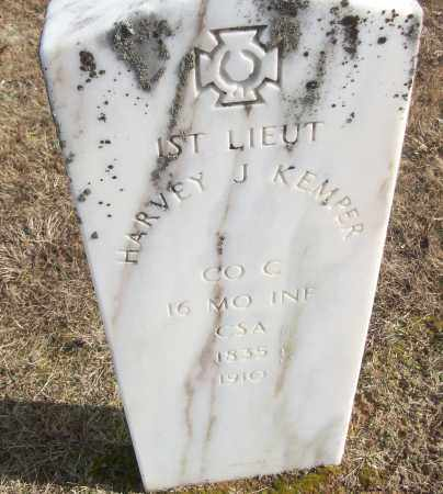 KEMPER (VETERAN CSA), HARVEY J - White County, Arkansas | HARVEY J KEMPER (VETERAN CSA) - Arkansas Gravestone Photos