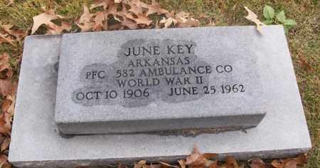 KEY  (VETERAN WWII), JUNE - White County, Arkansas | JUNE KEY  (VETERAN WWII) - Arkansas Gravestone Photos