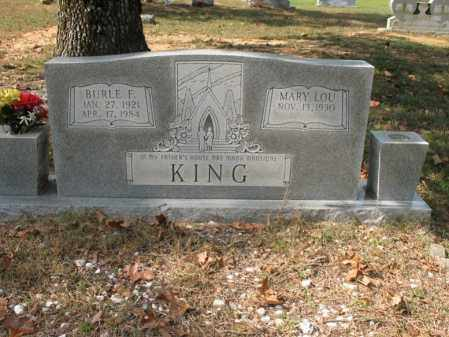 KING, BURLE F - White County, Arkansas | BURLE F KING - Arkansas Gravestone Photos