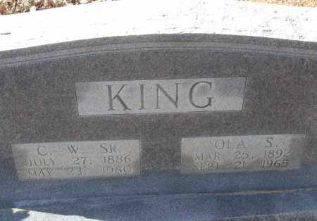 KING, C.W. SR. - White County, Arkansas | C.W. SR. KING - Arkansas Gravestone Photos