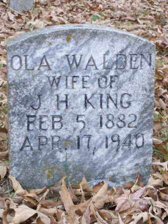 WALDEN KING, OLA - White County, Arkansas | OLA WALDEN KING - Arkansas Gravestone Photos