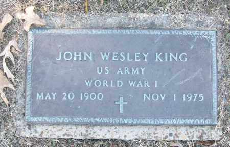 KING (VETERAN WWI), JOHN WESLEY - White County, Arkansas | JOHN WESLEY KING (VETERAN WWI) - Arkansas Gravestone Photos