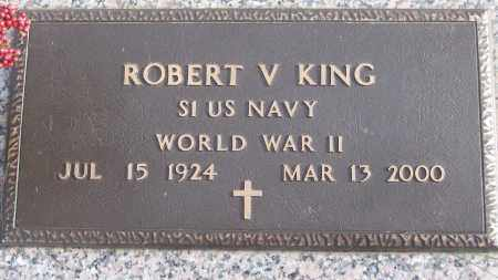 KING (VETERAN WWII), ROBERT V - White County, Arkansas | ROBERT V KING (VETERAN WWII) - Arkansas Gravestone Photos