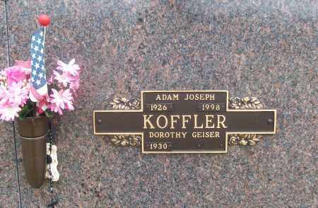 KOFFLER  (VETERAN), ADAM JOSEPH - White County, Arkansas | ADAM JOSEPH KOFFLER  (VETERAN) - Arkansas Gravestone Photos