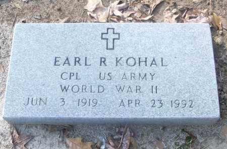 KOHAL (VETERAN WWII), EARL R - White County, Arkansas | EARL R KOHAL (VETERAN WWII) - Arkansas Gravestone Photos