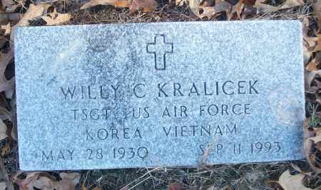 KRALICEK (VETERAN 2 WARS), WILLY C - White County, Arkansas | WILLY C KRALICEK (VETERAN 2 WARS) - Arkansas Gravestone Photos