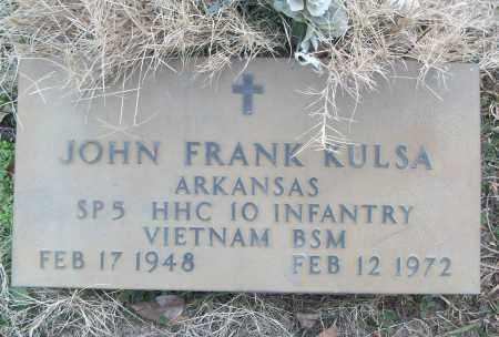 KULSA (VETERAN VIET), JOHN FRANK - White County, Arkansas | JOHN FRANK KULSA (VETERAN VIET) - Arkansas Gravestone Photos