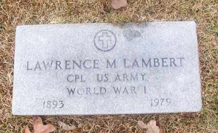 LAMBERT  (VETERAN WWI), LAWRENCE M - White County, Arkansas | LAWRENCE M LAMBERT  (VETERAN WWI) - Arkansas Gravestone Photos