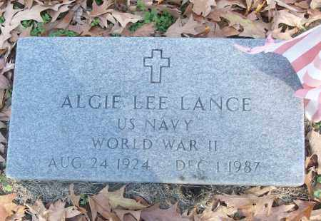 LANCE (VETERAN WWII), ALGIE LEE - White County, Arkansas | ALGIE LEE LANCE (VETERAN WWII) - Arkansas Gravestone Photos