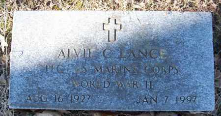 LANCE (VETERAN WWII), ALVIE C - White County, Arkansas | ALVIE C LANCE (VETERAN WWII) - Arkansas Gravestone Photos