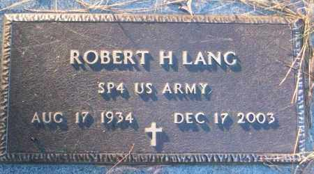 LANG (VETERAN), ROBERT H - White County, Arkansas | ROBERT H LANG (VETERAN) - Arkansas Gravestone Photos