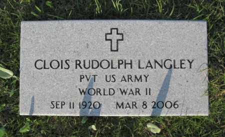 LANGLEY  (VETERAN WWII), CLOIS RUDOLPH - White County, Arkansas | CLOIS RUDOLPH LANGLEY  (VETERAN WWII) - Arkansas Gravestone Photos