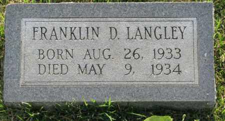 LANGLEY, FRANKLIN D. - White County, Arkansas | FRANKLIN D. LANGLEY - Arkansas Gravestone Photos