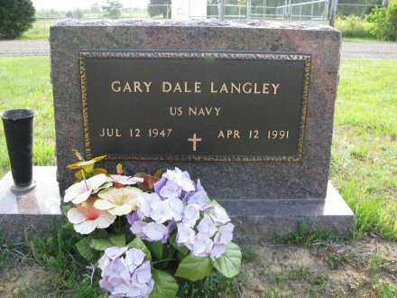LANGLEY  (VETERAN), GARY DALE - White County, Arkansas | GARY DALE LANGLEY  (VETERAN) - Arkansas Gravestone Photos
