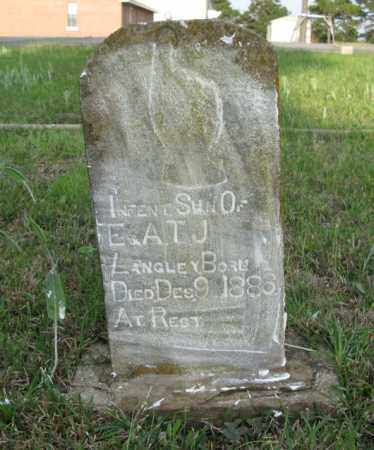 LANGLEY, INFANT SON - White County, Arkansas | INFANT SON LANGLEY - Arkansas Gravestone Photos